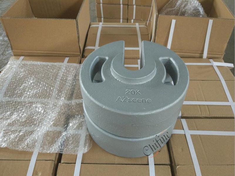 Custom Iron Sand Casting Balance Counter Weight with Powder Coating