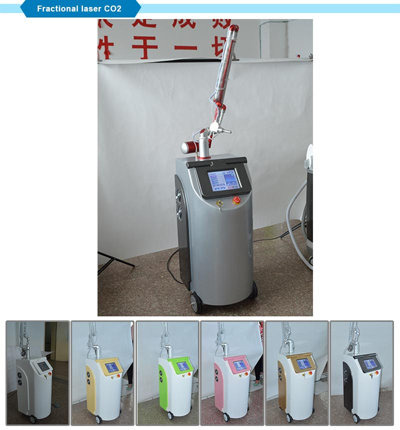 Salon Skin Rejuvenation CO2 Fractional Laser Machine Permanent Painless Tattoo Removal