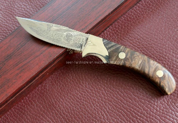 Wood Handle Fixed Knife (SE-0474)