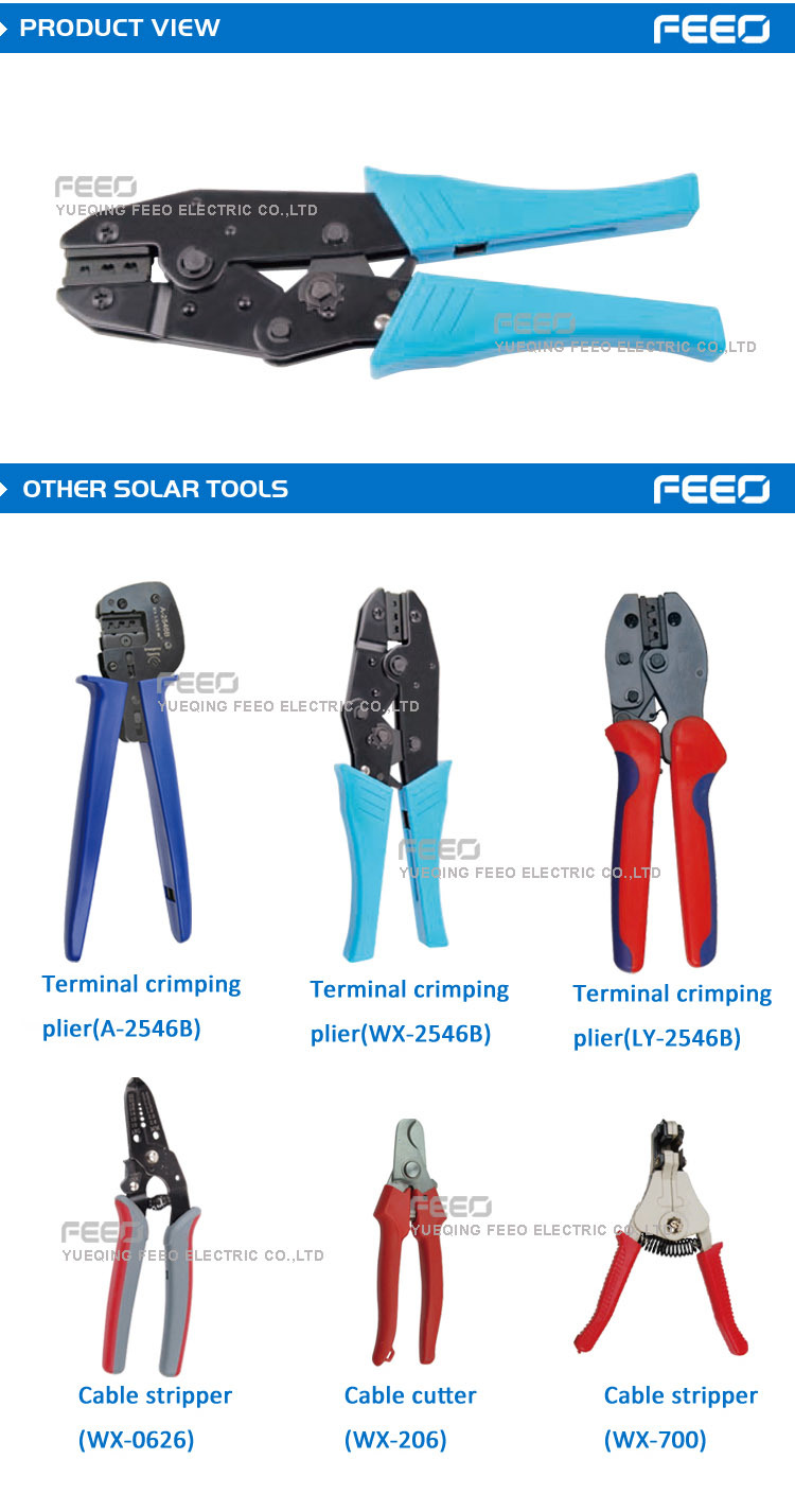 Solar Energy System Terminal Cable Crimping Tool Automobile DC Connector Tool