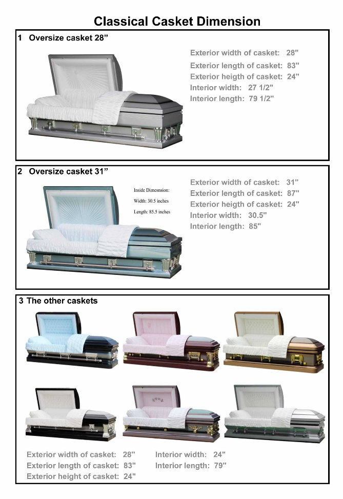 Lacy Rose Stainless Casket for USA