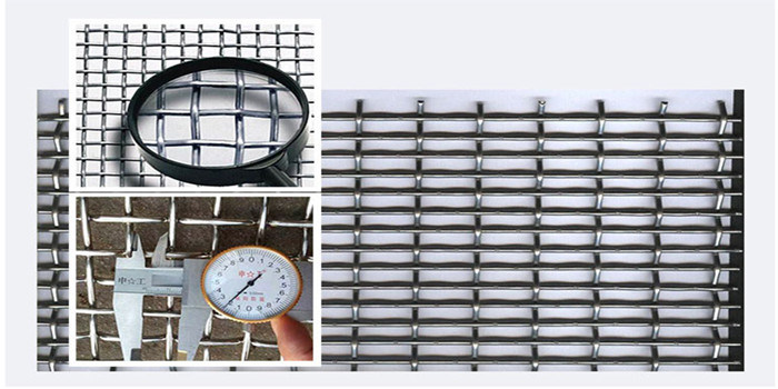 Woven Crimped Wire Mesh Used for Mining/Building/Protection
