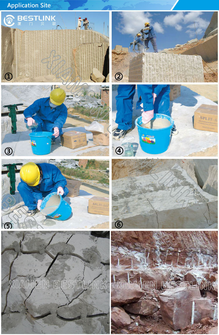 Safe Soundless Stone Cracking Expansive Mortar Cement for Mining