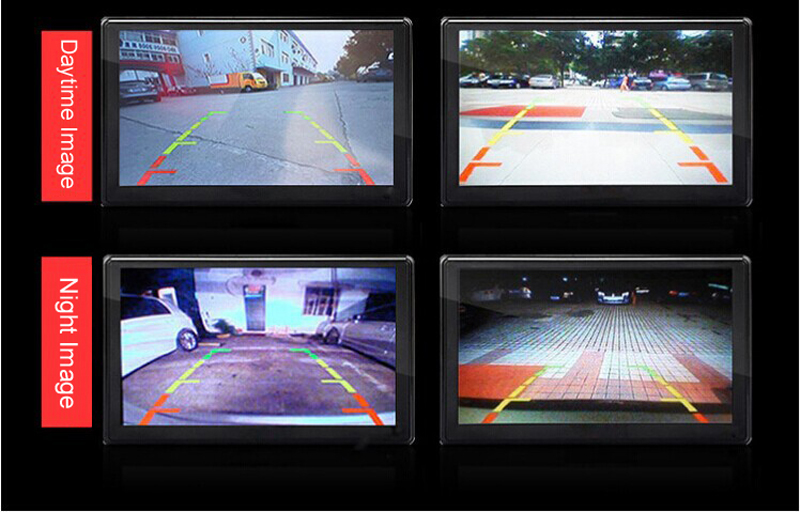 7inch Rear Mirror Reversing System with Rear View Camera
