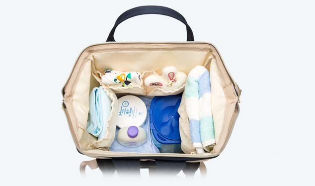 Fashion Ladies Tote Mummy Diaper Bag Handbag Travel Backpack with Baby Easy to Travel