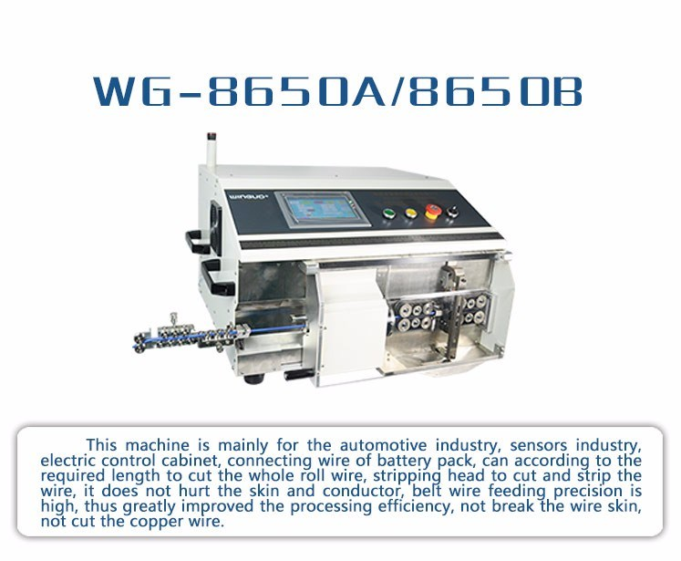 Double End Stripping Automatic Computer Wire Cutting Wire Stripping Cable Stripper Machine (WG-8650A)