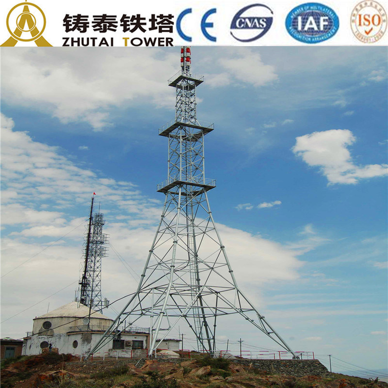Q345b Steel Tower for Telecom Communication
