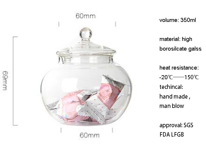 Safety High Borosilcate Galss Storage Jar Tea Pot
