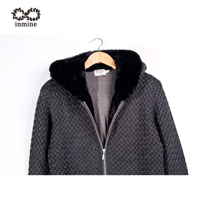 Wool Acrylic Hooded Coat Knit Man Sweater