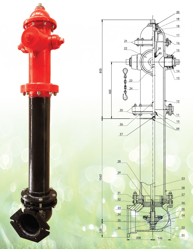 FM Listed Dry Barrel Fire Hydrant