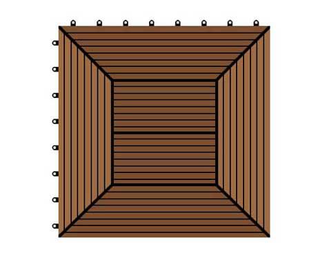 300*300*22 WPC/ Wood Plastic Composite DIY Floor
