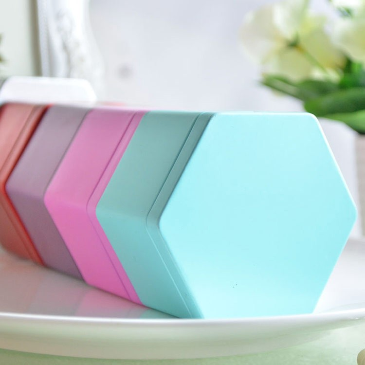 Hexagon tin candles