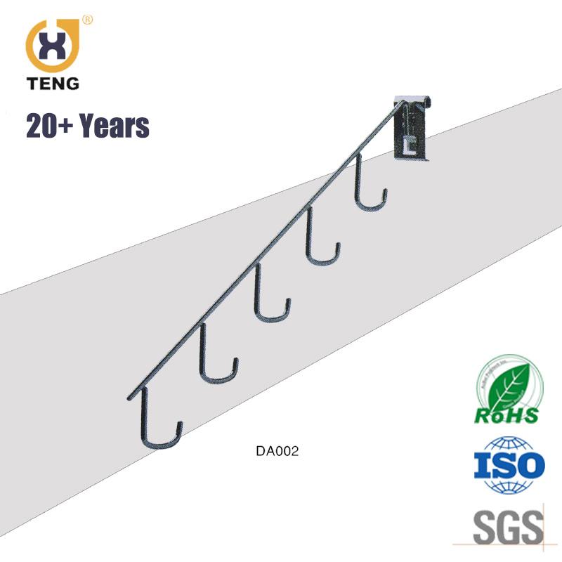 High Quality Supermarket Metal Chrome Rack Hanging Display Hook