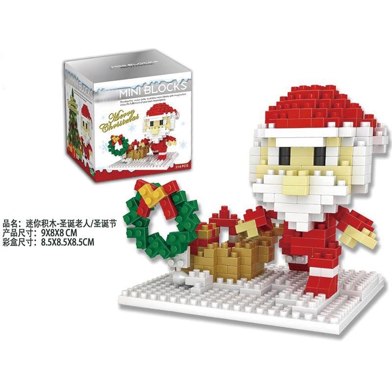 X'mas Santa Claus Blocks Music Christmas Toy Gift