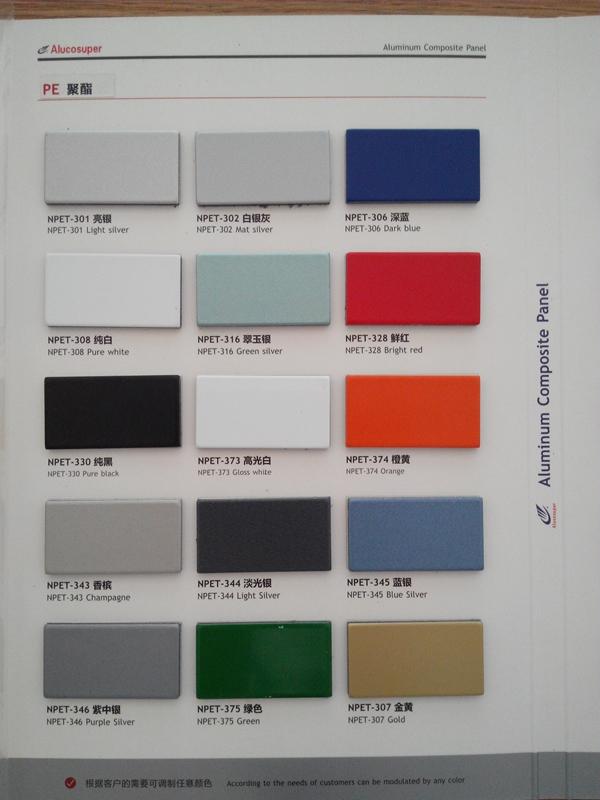 3mm/4mm/5mm/6mm PVDF Aluminium Composite Panel (ACP) for Outdoor Use