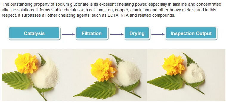 Water Quality Stabilizer / Concrete Retarder Gluconic Acid Sodium Salt Price