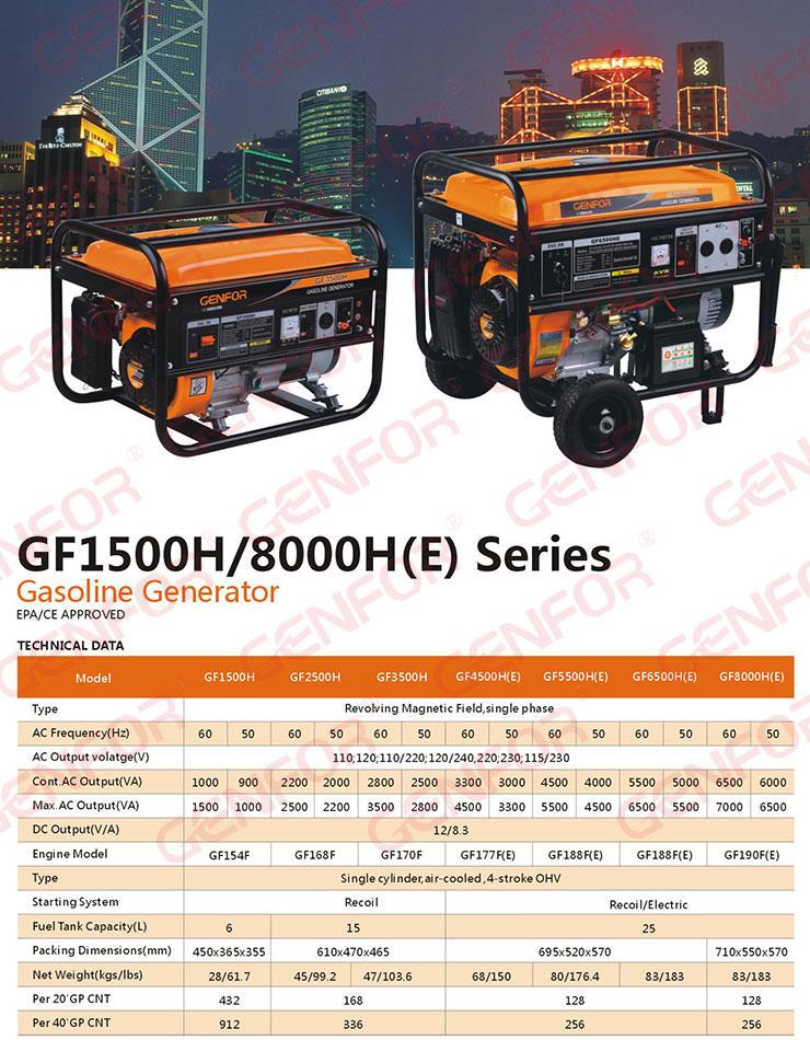 Home Use Generator, 8kVA Gasoline Generator