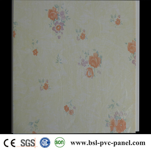 Classic 30cm Flat Laminated PVC Wall Panel 2015 in China