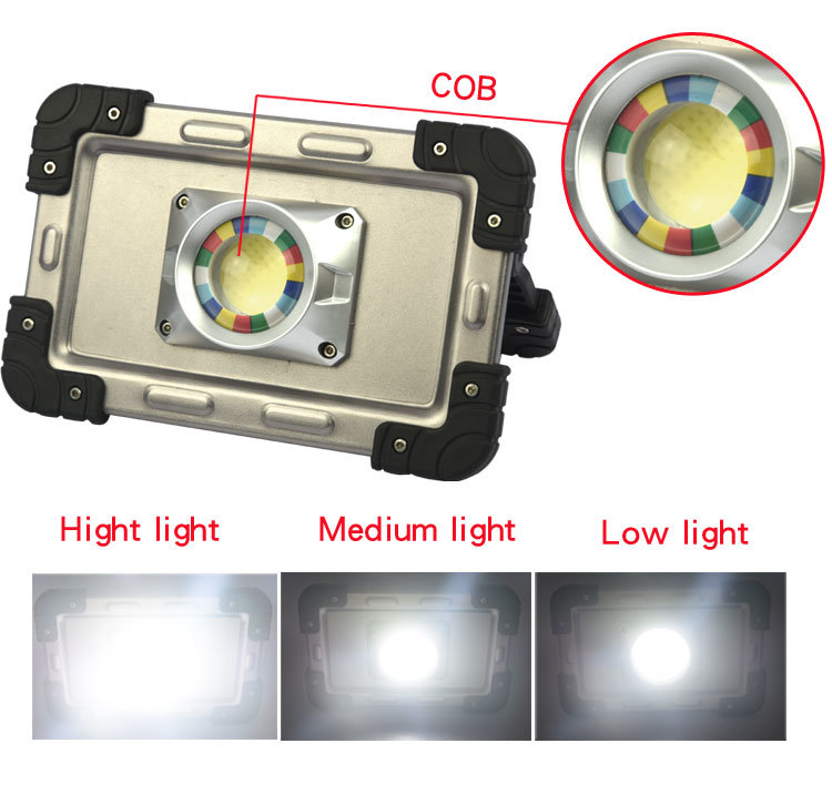 Wholesale Portable Torch Light Rechargeable COB LED Work Light