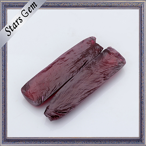Synthetic Uncut Corundum Ruby Rough 5# AAA Grade