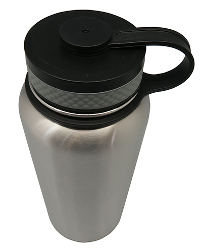 Stainless Steel Vacuum Sports Bottle with Loop 1200ml