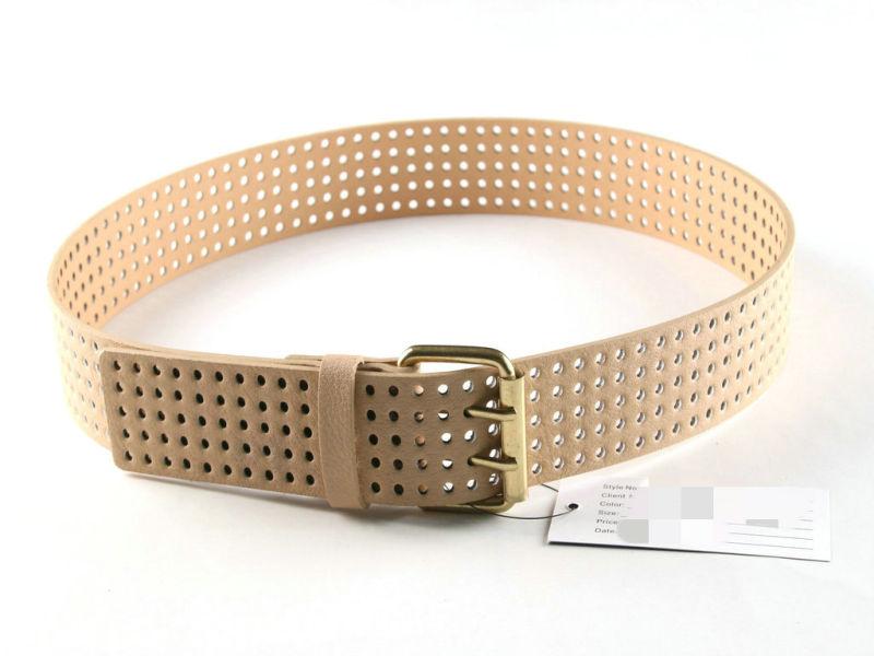 Environmental PU Material Punching Belt for Female's Garment