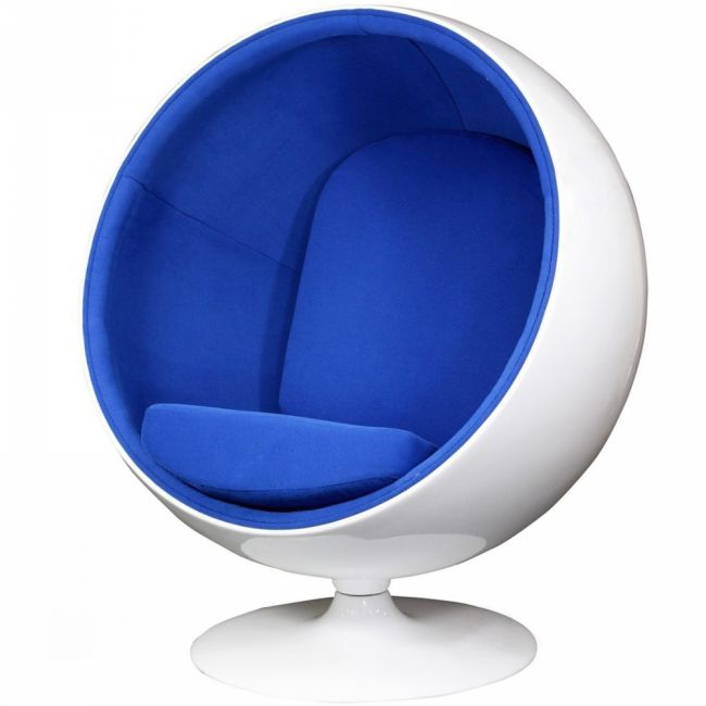 Egg-Shaped Space Chair and Ball Chair
