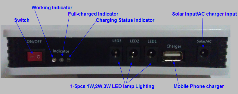 Solar Power Supply Home Lighting Light System From ISO9001 Factory