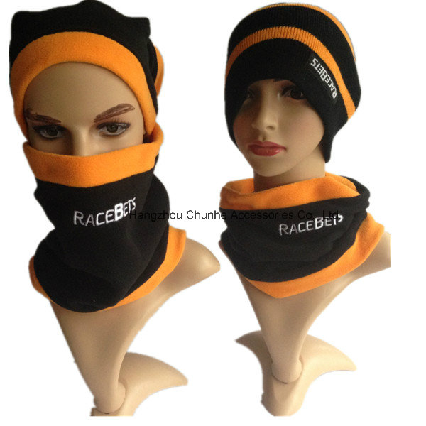 Unisex 3-in-1 Winter Hat Snood Polar Fleece Mask Snood Hat Neck Warmer Ski Scarf Beanie Balaclava Face Mask