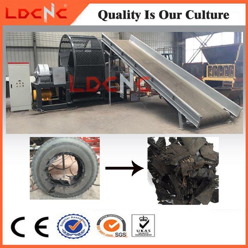 Scrap Rubber Tyre Shredder Cutting Machine Price