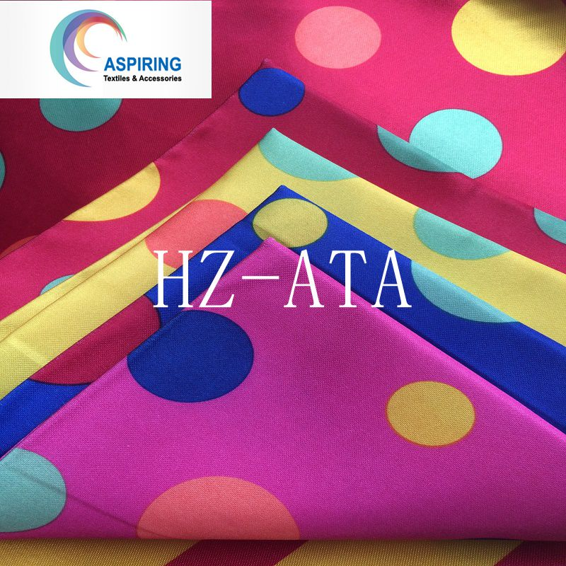75dx150d 90GSM Printed Satin Fabric