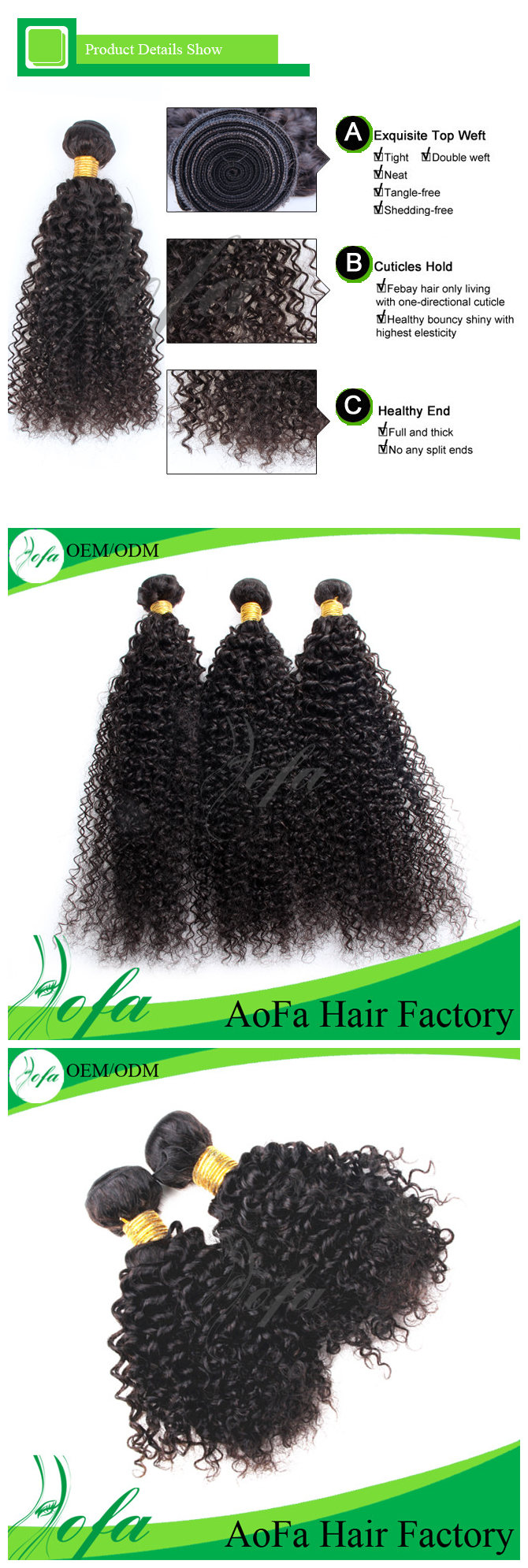 100%Unprocessed Mongolian Human Kinky Curly Hair Remy Virgin Hair