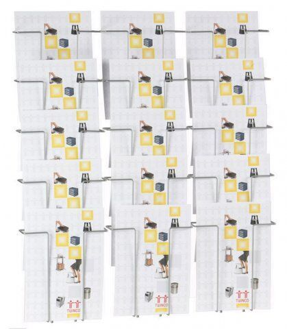 Twinco Wall-Mounted 15-Compartment Literature Display