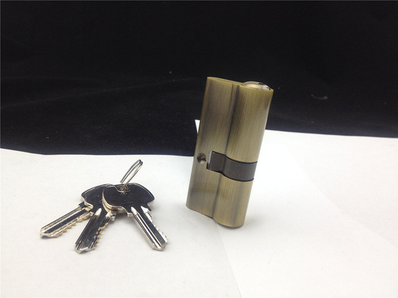 70mm High Security Brass S-Groove Key Cylinder