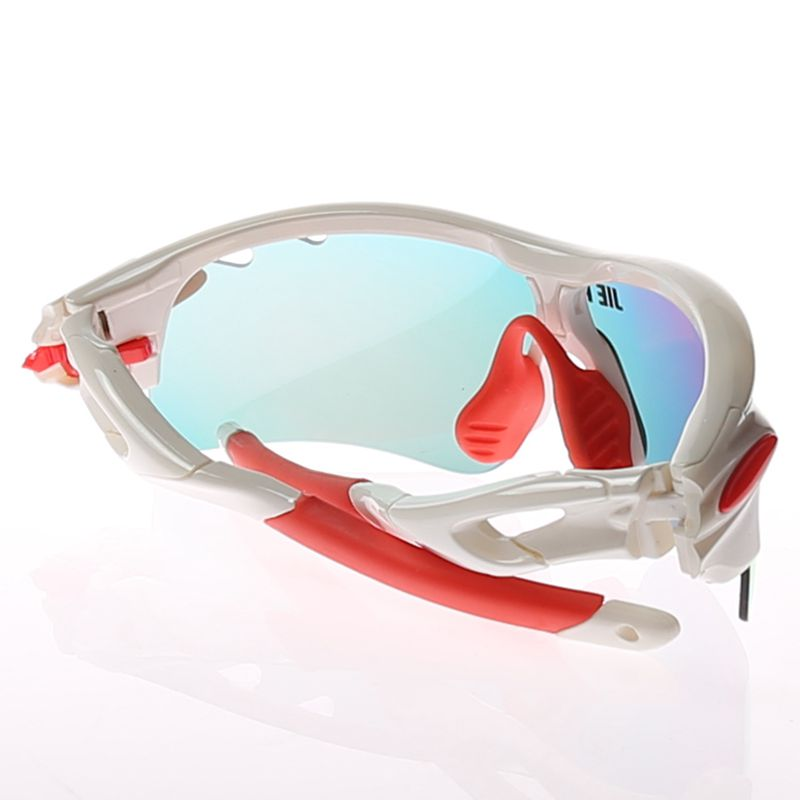 Jie Polly Cycling Sunglasses Tactical Anti-Explosion Glasses Protective Sunglasses White
