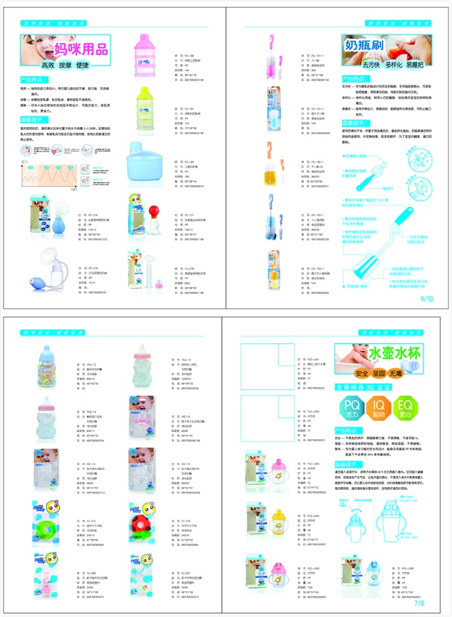 New Products! Hot Selling PP Material 240ml Anti-Slip Baby Feeding Bottle