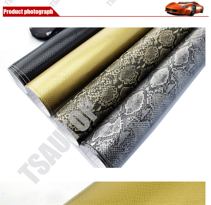Tsautop 1.52*30m/20m 2016 New Style Imitation Skin Car Wrap Film Car Wrap Vinyl