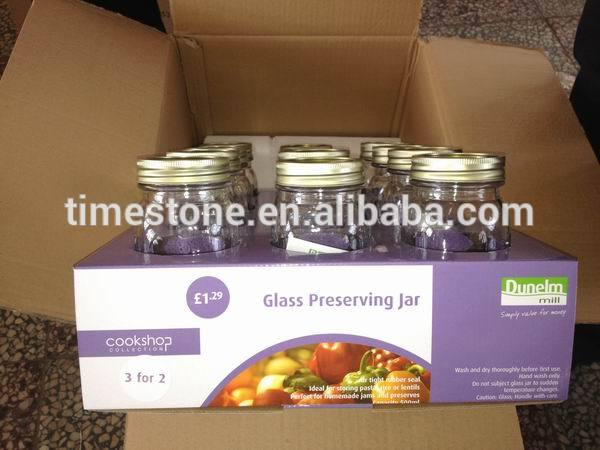Glass Mason Jar with Stainless Steel Lid