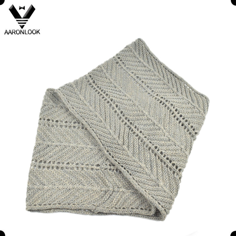 Fashion Winter Herringbone Pattern Jacquard Knitted Neck Warmer