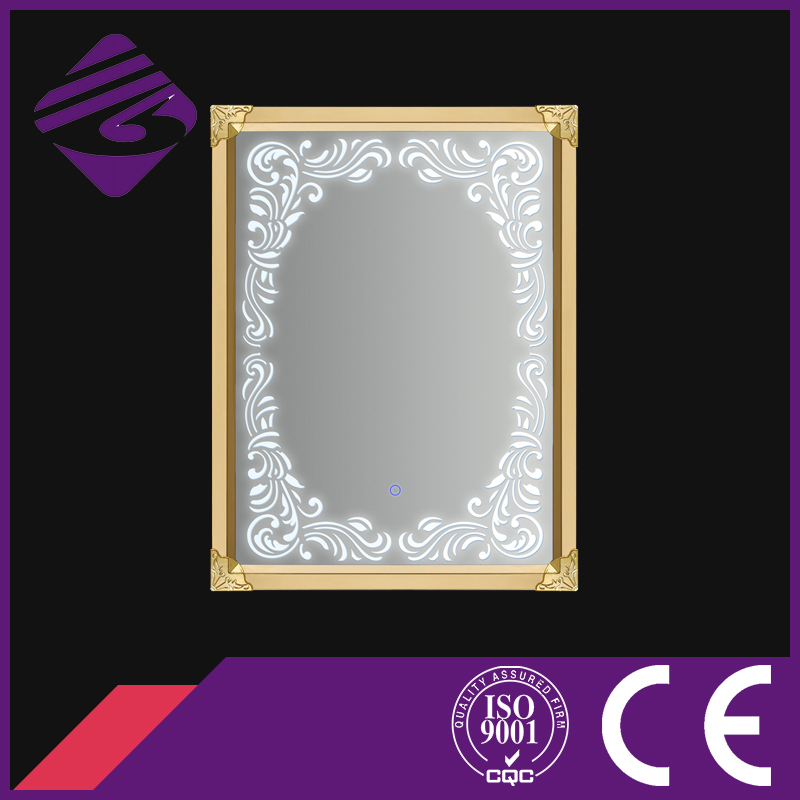 Stainless Frame Bathroom Silver Mirror with LED Light