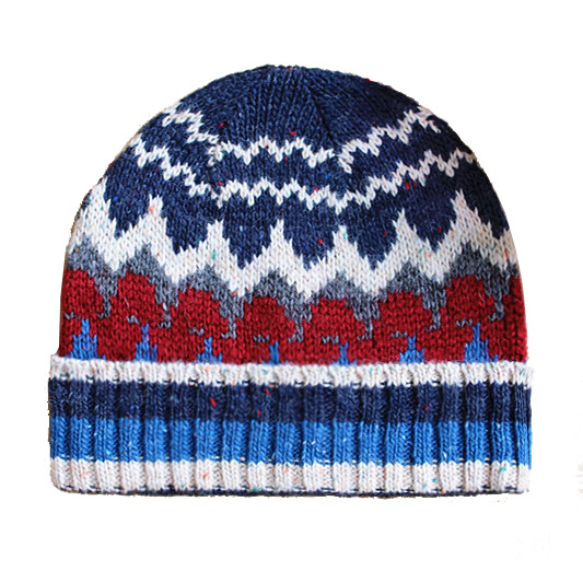 Mens Soft Stretch Slouch Wool Winter Knitted Jacquard Warm Cap Beanie Hat (HW426)