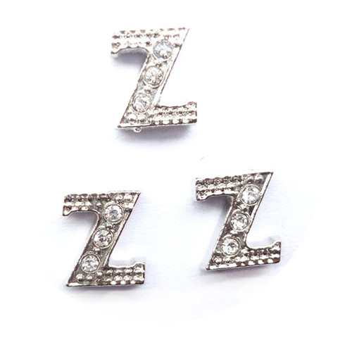 Initial Rhinestone Letter Slider Pendant Charms for Making Bracelet