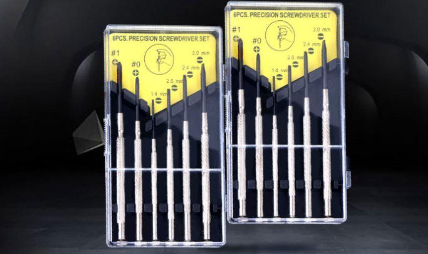 High Quality 6PCS Precision Multifunction Watch Repair Screwdriver Tool Kit Set