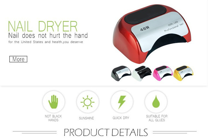 Nail Polish Dryer Electric Automatic Induction CCFL UV LED Nail Lamp