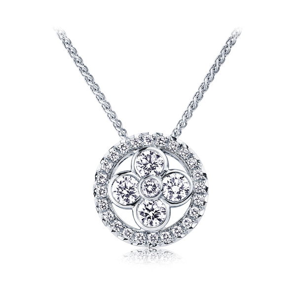 Bazel Setting Aaaa Cubic Zircon 925 Sterling Silver Pendants Necklace