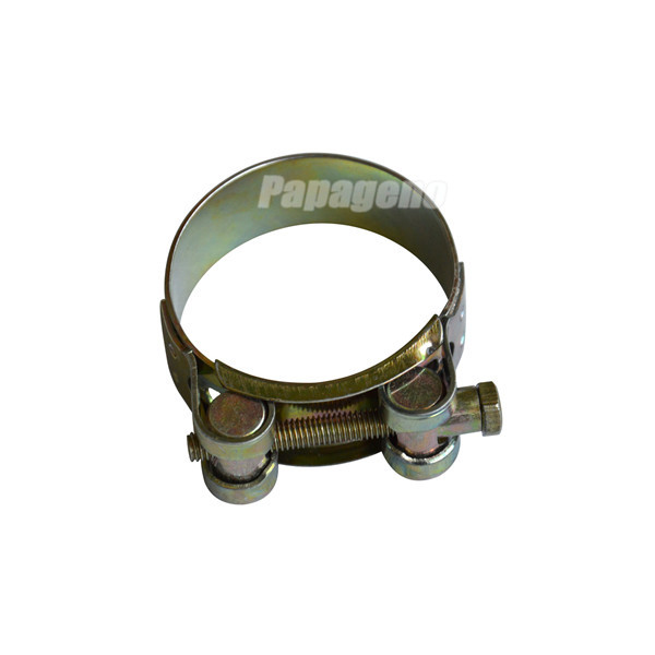 Single Bolt Heavy Duty Hose Clamp with Solid Nut