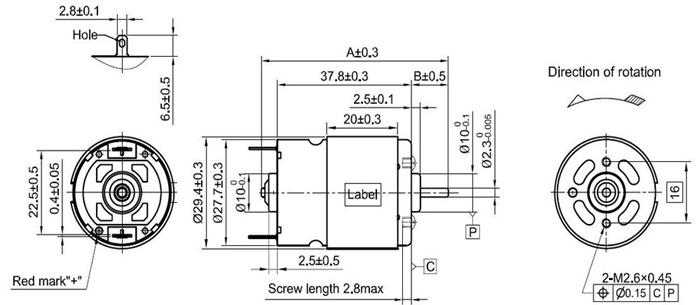 18V Electric Motor RS-380sh DC Motor for Brush Bar
