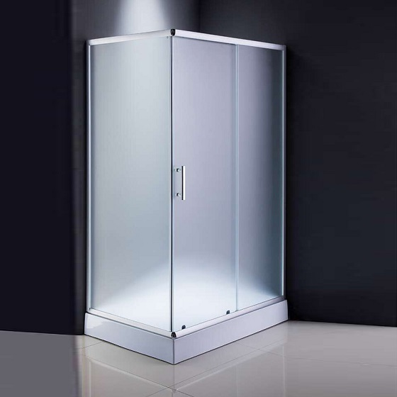 Fabric Glass Popular Style Bathroom Shower (ADL-8002)