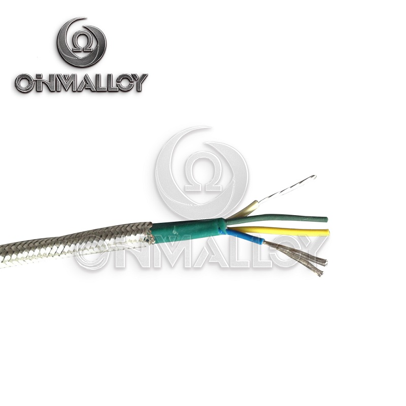 4X24AWG Type J Thermocuple Cable Fiberglasss Insolation with Stainless Steel Braid Shield