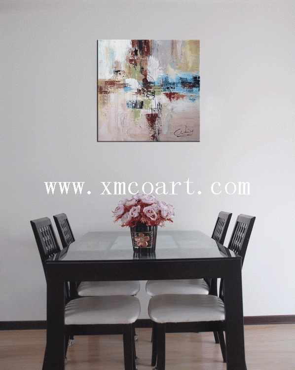 100% Handmade Abstract Oil Painting (New-196)